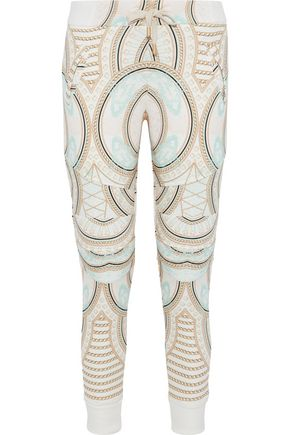 PIERRE BALMAIN Printed cotton-terry track pants