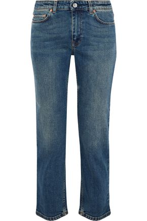 ACNE STUDIOS Cropped mid-rise straight-leg jeans