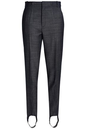 FRAME Herringbone wool tapered stirrup pants