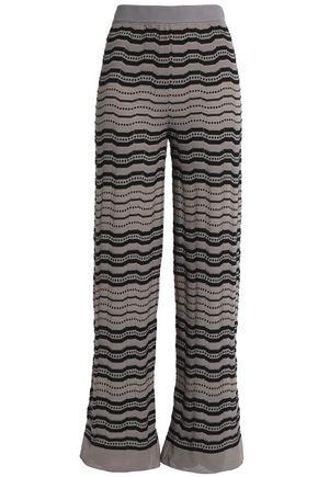 M MISSONI Crochet-knit wide-leg pants