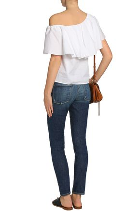 FRAME Faded low-rise skinny jeans