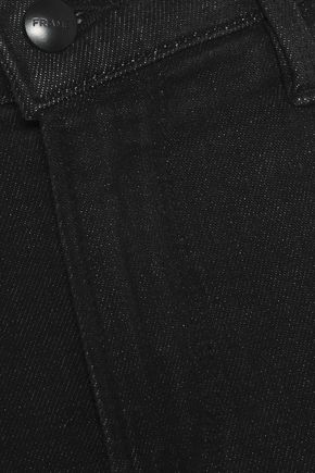 FRAME Cropped mid-rise slim-leg jeans