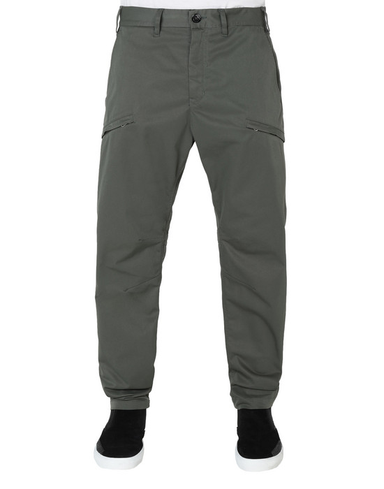 STONE ISLAND SHADOW PROJECT TROUSERS 30105 WIDE TROUSERS WITH ARTICULATION TUNNELS (POLY-OPTIMA) SINGLE LAYER FABRIC - HIGH PRESSURE GARMENT DYEING