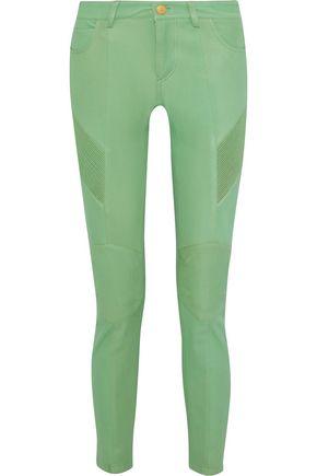 PIERRE BALMAIN Moto-style leather skinny pants