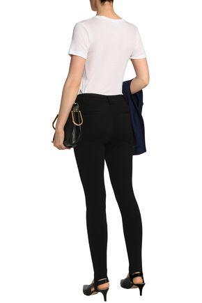 FRAME Wool-blend jersey slim-leg stirrup pants