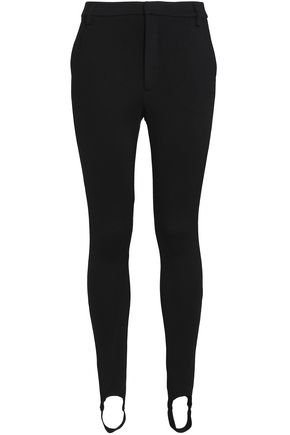 FRAME Wool-blend jersey slim-leg stirrup pants