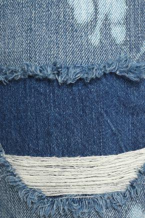 FRAME Distressed mid-rise boyfriend jeans