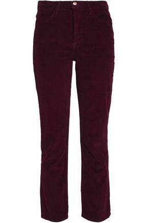 FRAME Cotton-blend corduroy slim-leg pants