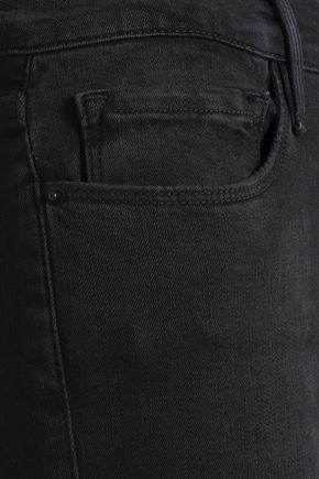 FRAME Mid-rise kick-flare jeans