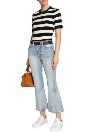 33e3c661dc13 FRAME Faded mid-rise kick-flare jeans