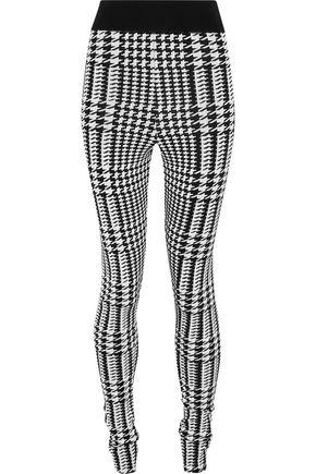 BALMAIN Houndstooth stretch-ponte leggings