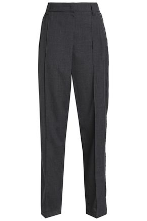 BRUNELLO CUCINELLI Pleated wool straight-leg pants