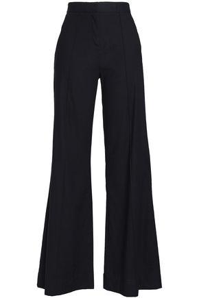 DIANE VON FURSTENBERG Linen-blend flared pants