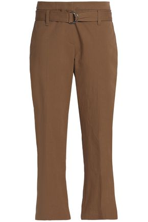 BRUNELLO CUCINELLI Cropped cotton-twill tapered pants