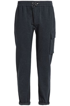 BRUNELLO CUCINELLI Cotton-blend terry track pants