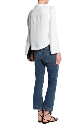 FRAME High-rise kick-flare jeans