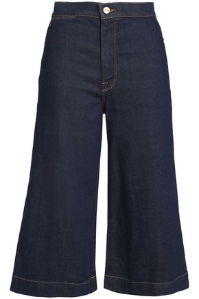 FRAME Cropped high-rise wide-leg jeans