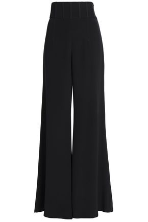 CUSHNIE Silk crepe de chine wide-leg pants