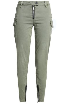 RTA Presley cropped stretch-cotton twill skinny pants