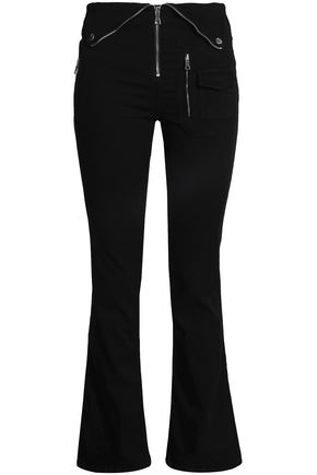 RTA Diavolina zip-detailed high-rise bootcut jeans