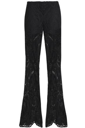ANNA SUI Guipure lace flared pants