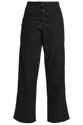 RTA Theodora cotton-blend canvas straight-leg pants