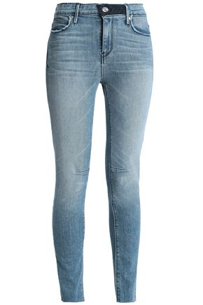 RTA Faded high-rise skinny jeans