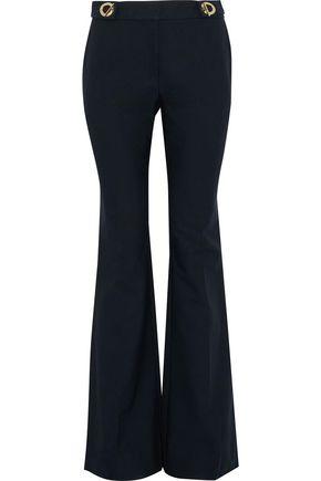 DEREK LAM 10 CROSBY Eyelet-embellished cotton-blend twill bootcut pants