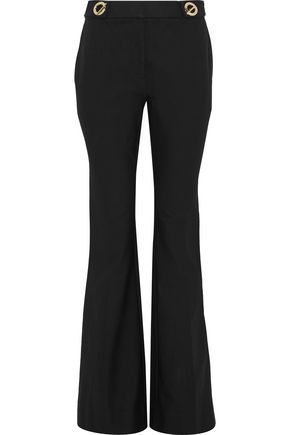 DEREK LAM 10 CROSBY アイレット付き コットン混ツイル ブーツカット パンツ