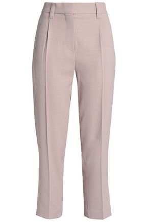 BRUNELLO CUCINELLI Cropped wool-blend twill straight-leg pants