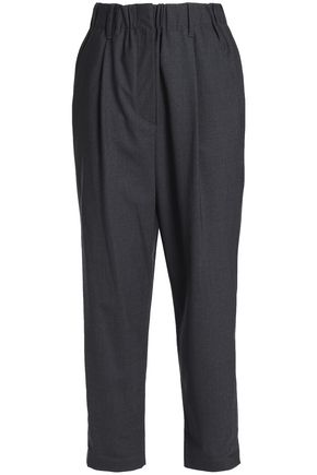 BRUNELLO CUCINELLI Wool-blend straight-leg pants
