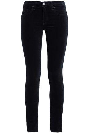RAG & BONE/JEAN Cotton-blend velvet skinny pants