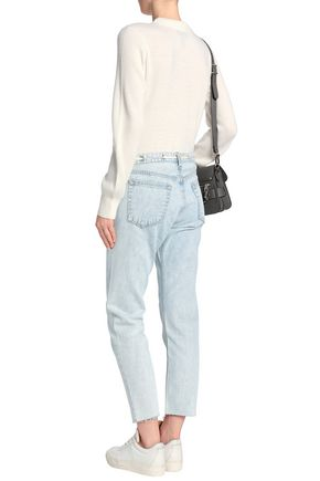 RAG & BONE Faded mid-rise straight-leg jeans