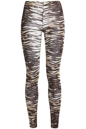 MAJESTIC FILATURES Zebra-print jersey leggings