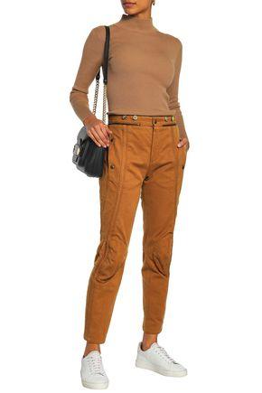 CHLOÉ Cropped cotton-gabardine slim-leg pants