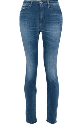 IRO Faded mid-rise skinny jeans