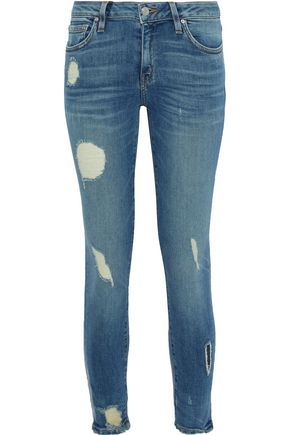 IRO Jude distressed low-rise skinny jeans