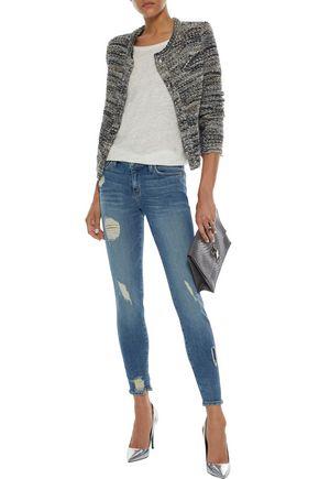 IRO Jude distressed low-rise skinny jeans