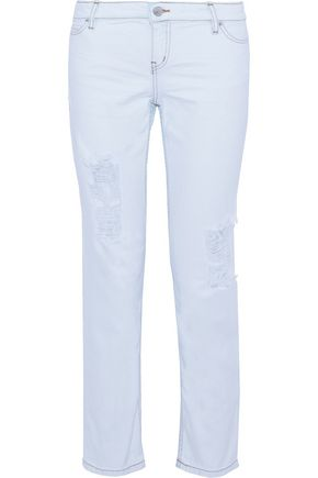 IRO Kalou distressed low-rise straight-leg jeans
