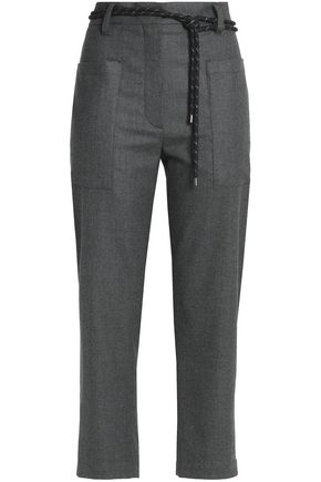 BRUNELLO CUCINELLI Cropped belted twill tapered pants