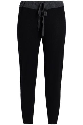 JAMES PERSE Two-tone cashmere skinny pants