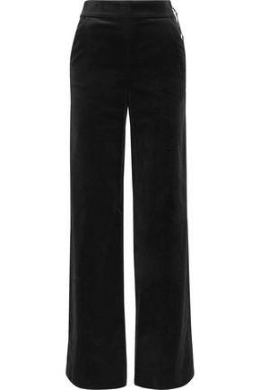 FRAME Cotton-blend velvet wide-leg pants