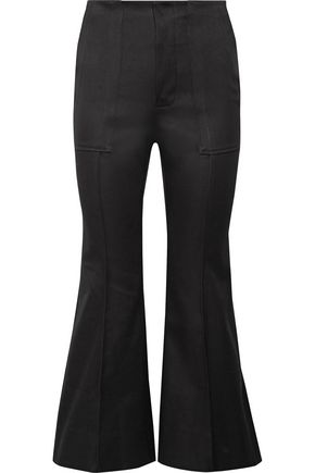 BASSIKE Cotton-blend bootcut pants