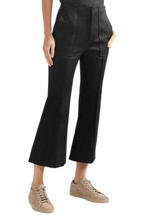 BASSIKE Cotton-blend bootcut pants