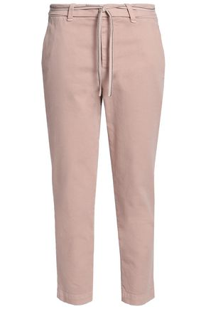 BRUNELLO CUCINELLI Cropped stretch-cotton twill tapered pants