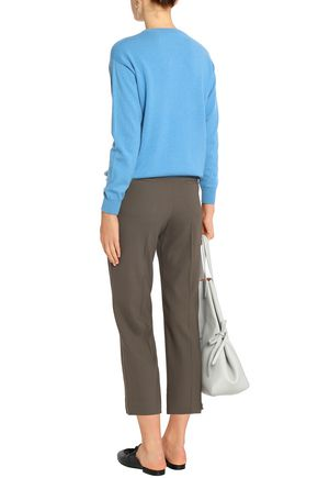 BRUNELLO CUCINELLI Wool-blend twill straight-leg pants