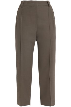 BRUNELLO CUCINELLI Wool-blend twill straight-leg pants