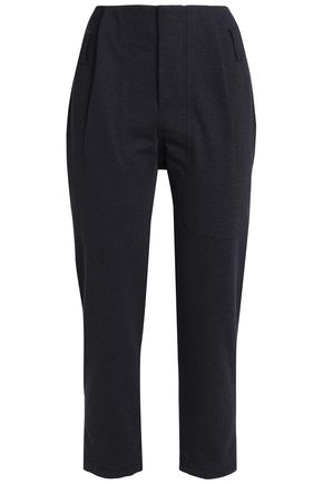 BRUNELLO CUCINELLI Cropped cotton-blend tapered pants