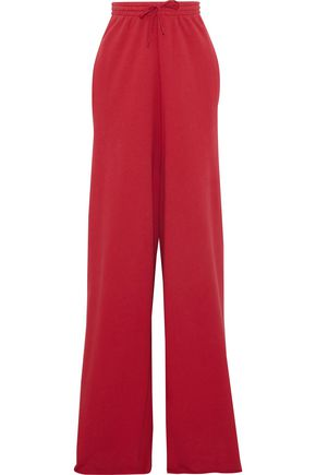 VETEMENTS French cotton-blend terry wide-leg pants