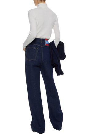 CALVIN KLEIN COLLECTION High-rise straight-leg jeans